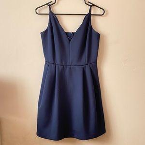 Dynamite Dark Blue V-Neck dress